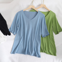 T-shirt Green, blue, white, black Average size Summer 2020 Short sleeve Crew neck easy Regular routine commute other 30% and below 18-24 years old Korean version youth