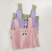 Vest sling Autumn 2020 Pink, apricot, purple, green, black, white Average size singleton  Self cultivation other other Solid color 18-24 years old 30% and below