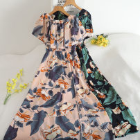 Dress Summer 2020 Black, blue, green, Navy, pink Average size Middle-skirt Two piece set Long sleeves commute Crew neck middle-waisted Decor zipper A-line skirt routine Others 18-24 years old Type A 30% and below other other