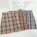 skirt Spring 2021 S,M,L,XL Short skirt Versatile High waist A-line skirt lattice Type A 18-24 years old 30% and below other