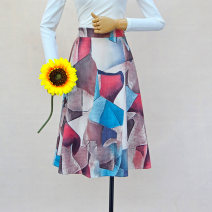 skirt Winter 2020 Average size gules longuette sexy Natural waist A-line skirt lattice Type A 18-24 years old 71% (inclusive) - 80% (inclusive) other other Printing, thread decoration, pleating, zipper, stitching, patching 121g / m ^ 2 (including) - 140g / m ^ 2 (including)