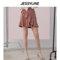 skirt Summer of 2019 XS/155 S/160 M/165 L/170 Black (without accessories) dark pink (without accessories) Short skirt street Natural waist Irregular Solid color 18-24 years old 51% (inclusive) - 70% (inclusive) Jessy·Line polyester fiber Polyester 68.3% viscose 31.7% Europe and America