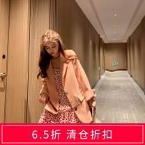 Fashion suit Summer 2020 S M L Pink coat black coat Beige coat pink dress white dress black dress 18-25 years old Ye Fengling Y31388 Polyester 100% Pure e-commerce (online only)