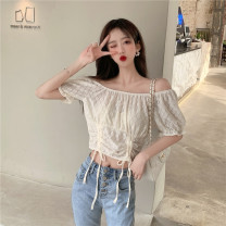 shirt Light yellow, light blue Average size Autumn 2020 other 31% (inclusive) - 50% (inclusive) Long sleeves commute Medium length Crew neck routine Solid color 18-24 years old Straight cylinder Button