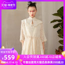 Dress Summer 2021 White black Average size longuette Two piece set three quarter sleeve commute stand collar Loose waist Solid color Socket A-line skirt pagoda sleeve 25-29 years old Type A Jn / JW / in and out of bounds ethnic style J11Q042 More than 95% Lace polyester fiber Polyester 100%