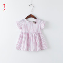 Dress M · y Tonghua / Muye fairy tales female Other 100% summer solar system Short sleeve other cotton Splicing style