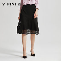 skirt Summer of 2019 XL 0S 0M 0L 2L black Middle-skirt Natural waist A-line skirt Solid color Type A 30-34 years old M903Q217 More than 95% other Yifni / Yifei nylon Polyamide fiber (nylon) 100% Same model in shopping mall (sold online and offline)