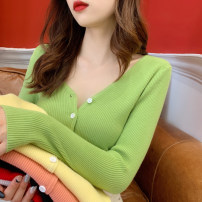 Wool knitwear Spring 2020 S (one size fits all, model try on), m, l White, black, yellow, pink, green, rose, red Long sleeves singleton  Cardigan other 30% and below Regular routine commute Self cultivation V-neck routine Solid color Single breasted Korean version ZZ-32 25-29 years old Other / other