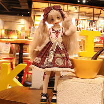 BJD doll zone suit 1/6 Over 14 years old goods in stock Shirt + dress + collar + hairpin + skirt + socks 1/6,1/4 Yes