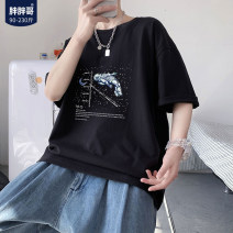 T-shirt Youth fashion Black, green, violet, > Click to see the size < shoot this default hair black routine M,L,XL,2XL,XXXL,XXXXL,XXXXXL Chubby brother Short sleeve Crew neck easy Other leisure summer youth routine tide Cartoon animation printing Creative interest No iron treatment