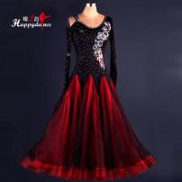 Modern dance suit (including performance clothes) Happy Charm Waltz, tango, Foxtrot, trot female S,M,L,XL,XXL other M048