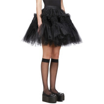 skirt Spring 2020 S,M,L black Short skirt fresh Natural waist Fluffy skirt Solid color Type A 81% (inclusive) - 90% (inclusive) other other