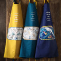 apron Ginger, peacock green, deep blue purple Sleeveless apron antifouling Chinese style pure cotton Personal washing / cleaning / care Average size Porcelain farmers public yes Ink style