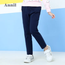 trousers Annil / anel female 110cm,120cm,130cm,140cm,150cm,160cm,170cm Black, B113 new royal blue spring and autumn trousers There are models in the real shooting Leggings Leather belt Don't open the crotch Cotton 94.5% polyurethane elastic fiber (spandex) 5.5% EG816163 Class B EG816163