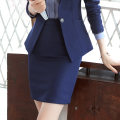 skirt Autumn of 2018 S,M,L,XL,2XL,3XL,4XL,5XL,6XL Black (spring and Autumn), blue (summer thin), black (summer thin), blue (spring and Autumn). If you need to split back, contact customer service Middle-skirt commute Suit skirt Solid color