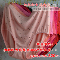 underpants female Red, purple, black, skin color, pink, rose, peach, flesh pink, rose pink One size fits all - recommended weight 180-320 kg Other / other 1 cotton Briefs High waist Plants and flowers youth More than 95% Cotton fabric Buttock lifting printing