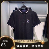 Polo shirt Peace angelbird Youth fashion routine black S,M,L,XL,2XL Self cultivation Other leisure summer Short sleeve BWDBB2A96 tide routine teenagers 2021 Animal design Embroidery