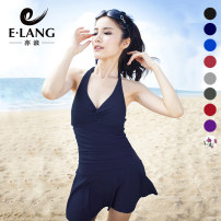 one piece  E / wave Skirt one piece With chest pad without steel support Nylon spandex Spring 2016