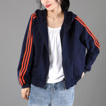 short coat Spring 2020 M,L,XL,2XL,3XL Long sleeves have cash less than that is registered in the accounts routine singleton  easy commute raglan sleeve Hood zipper 30-34 years old Huangsen of Meiyi Society 81% (inclusive) - 90% (inclusive) Pocket, thread T3021 cotton cotton