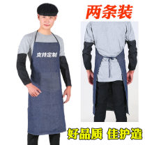 apron There are 5 60 * 90cm denim aprons, 5 1m-70cm denim aprons, 2 1m-70cm denim aprons, 2 60 * 90cm denim aprons, 10 1m-70cm denim aprons, 1 pair of denim wide mouth sleeve (sleeve price only, 1 pair of denim ordinary mouth sleeve (sleeve price only, 60 * 90cm denim apron)