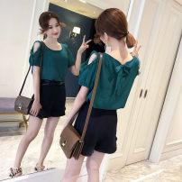 T-shirt Green, red, white, purple, pink S,M,L,XL,2XL,3XL Spring 2021 Regular polyester fiber 96% and above Lxna / lancenio
