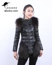 leather clothing Зима 2016 Фиолетовый диван черный M