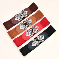 Belt / belt / chain top layer leather Brown red coffee black female Waistband Versatile Single loop Youth, middle age and old age a hook other soft surface 6.0cm alloy Cold weapon Summer 2020