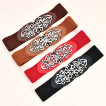 Belt / belt / chain top layer leather Brown red black coffee female Waistband Versatile Single loop Youth, middle age and old age a hook other soft surface 5.7cm alloy Tightness Cold weapon LBQ1007 Summer 2020