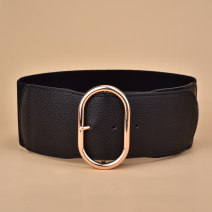 Belt / belt / chain top layer leather Brown red black female Waistband Versatile Single loop Youth, middle age and old age Pin buckle Geometric pattern soft surface 7.0cm alloy Tightness Cold weapon Autumn of 2019