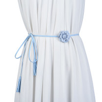 Belt / belt / chain other Fresh Blue Black Beige coffee female belt Sweet Single loop Children: 1-6 years old, young, middle-aged and old bow soft surface Bow flower Cold weapon LBQ1056 Spring 2021
