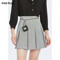 skirt Summer 2021 XS S M L Short skirt Versatile High waist Pleated skirt Solid color Type A 25-29 years old 51% (inclusive) - 70% (inclusive) Five Plus polyester fiber Same model in shopping mall (sold online and offline)