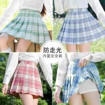 skirt 90cm,100cm,110cm,120cm,130cm,140cm,150cm,160cm,170cm Other / other female Cotton 100% skirt Korean version lattice other
