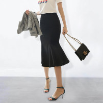 skirt Spring 2020 S,M,L,XL,2XL Black, white Mid length dress commute High waist skirt Solid color Type H 25-29 years old WQ2005 91% (inclusive) - 95% (inclusive) other Weimu Weiyi other Ol style 401g / m ^ 2 (inclusive) - 500g / m ^ 2 (inclusive)