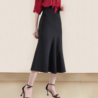 skirt Summer 2021 S,M,L,XL,2XL black longuette gorgeous High waist A-line skirt Solid color Type A 30-34 years old WQ2135 91% (inclusive) - 95% (inclusive) other Weimu Weiyi other zipper 301g / m ^ 2 (including) - 350g / m ^ 2 (including)