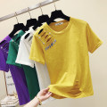 T-shirt S,M,L,XL,2XL Summer of 2019 Short sleeve Crew neck easy Regular routine commute other 86% (inclusive) -95% (inclusive) Korean version