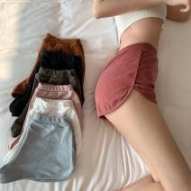 Casual pants White, light gray, dark gray, black, brown, pink, brownish red S,M,L Spring 2021 shorts Wide leg pants High waist Versatile routine Under 17 71% (inclusive) - 80% (inclusive) 8607-zj 2