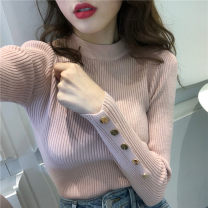 Wool knitwear Winter 2020 S,M,L Long sleeves singleton  Socket other 31% (inclusive) - 50% (inclusive) Super short routine Sweet Self cultivation High collar routine Solid color Socket Under 17 Other / other solar system