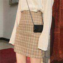 skirt Autumn 2020 S,M,L Apricot, green, black Short skirt Sweet High waist A-line skirt lattice Type A Under 17 L03-930 31% (inclusive) - 50% (inclusive) other Other / other other solar system