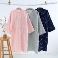 Nightgown / bathrobe Other / other male M, L Women's navy, men's grey, men's navy, women's pink Thin money