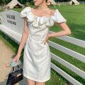 Dress Summer 2020 white S,M,L,XL Middle-skirt commute Princess Dress 18-24 years old Type X Korean version