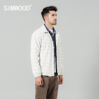cotton-padded clothes lattice Simwood 165/S 170/M 175/L 180/XL 185/XXL 190/XXXL Youth fashion routine routine standard Other leisure SI980597 Cotton 95% regenerated cellulose fiber 5% Lapel youth Single breasted Simplicity in Europe and America Straight hem Autumn of 2019 lattice Side seam pocket