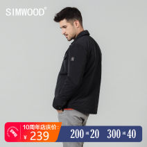 cotton-padded clothes Black light grey Simwood 165/S 170/M 175/L 180/XL 185/XXL 190/XXXL Youth fashion routine have cash less than that is registered in the accounts standard Other leisure Polyester 100% Lapel youth Single breasted Simplicity in Europe and America Straight hem Winter of 2019 other