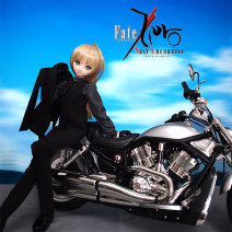 BJD doll zone suit 1/3 Over 3 years old goods in stock Clothing, belt (leather), socks (black), leather gloves, eyes (please note size), black leather shoes, dark brown leather shoes, wig (ponytail) SEN nothing