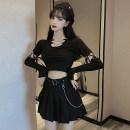 Fashion suit Spring 2021 S,M,L Black T, black skirt 18-25 years old 81% (inclusive) - 90% (inclusive) cotton