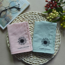 Handkerchief Light pink, grey green, English characters can be changed