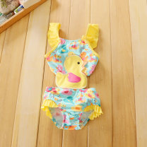 Bathing suit 18-24 months (suitable for 86-92cm), 2-3 years (suitable for 92-98cm), 3-4 years (suitable for 98-104cm), 4-5 years (suitable for 104-110cm), 5-6 years (suitable for 110-116cm) Other 100% Lovely duckling Other / other female Children's one piece swimsuit