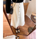 skirt Winter 2020 S,M,L Apricot water soluble skirt, apricot water soluble skirt pre-sale 7-15 working days longuette Retro High waist A-line skirt Solid color Type A 18-24 years old Cut out, zipper