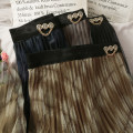 skirt Spring 2021 Average size Brown, blue, khaki, blue black Mid length dress Versatile High waist Pleated skirt Type A 18-24 years old A280157 30% and below other other