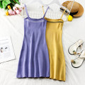Dress Summer of 2019 Average size Short skirt middle-waisted letter Socket One pace skirt camisole 18-24 years old