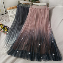 skirt Autumn 2020 Average size black , grey , blue , Pink Mid length dress High waist Pleated skirt 18-24 years old A279648 30% and below other other